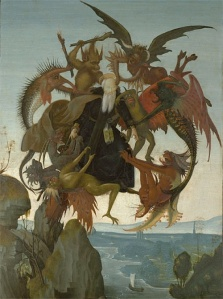 Michelangelo's The Torment of St. Anthony (painted when he was 12 in 1487)